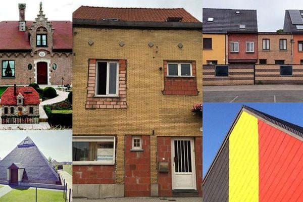 Quelques-unes des maisons jugées laides par le photographe.