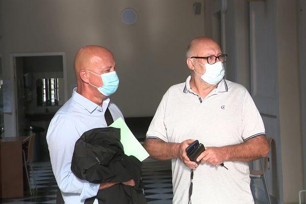 Présent ce mardi matin au tribunal d'Ajaccio, Jean-Dominique Rossi (à droite) était accompagné de son avocat, Maître Camille Romani.