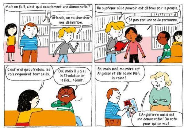 La démocratie en BD de Nathalie Loiseau et Aki