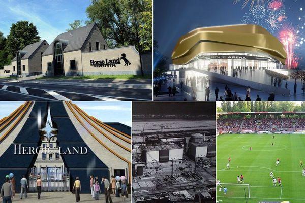 Horseland, Arena, Heroic land, Centrale nucléaire, stade Grimonprez-Joooris II... : des projets qui n'ont jamais vu le jour