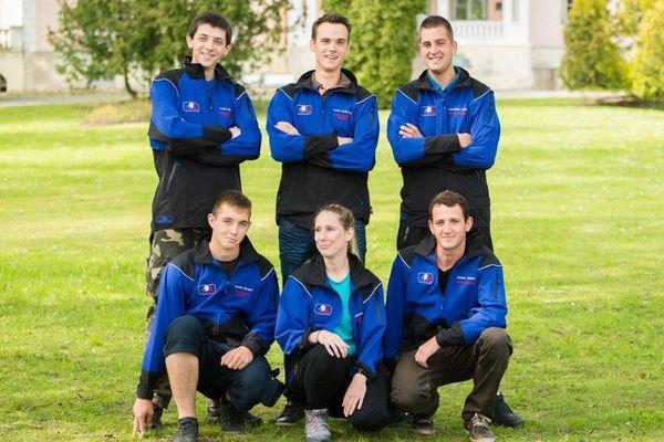 L'équipe de France de bûcheronnage (Lycée forestier de Crogny)