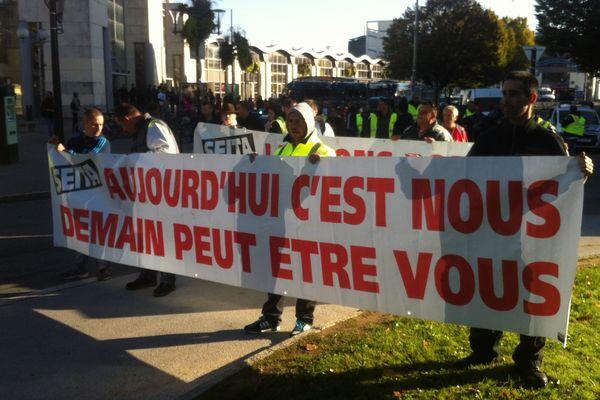 Manifestants de la Seita de Carquefou dans les rues de Nantes le 14 10 2014