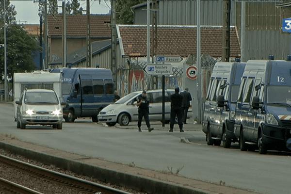 L'évacuation du camp ce matin à Nantes.