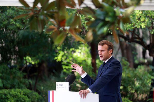 Emmanuel Macron, jeudi 10 septembre 2020, à Ajaccio.