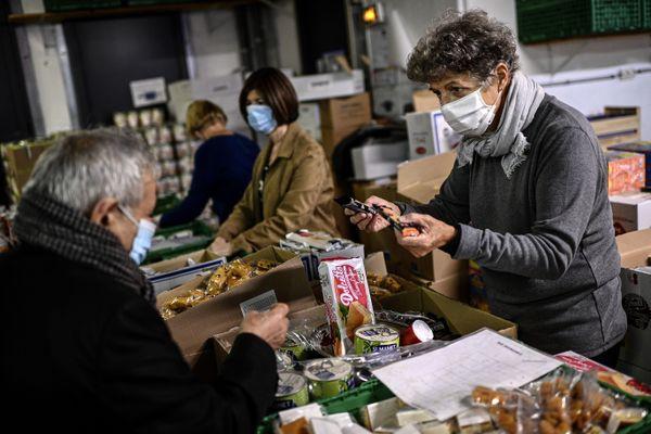 Les bénéficiaires de l'aide alimentaire sont de plus en plus nombreux du fait de la crise sanitaire en Isère. (Illustration)