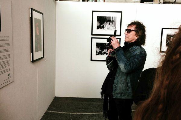 Mike Rock durant le vernissage de l'expo à Toulouse