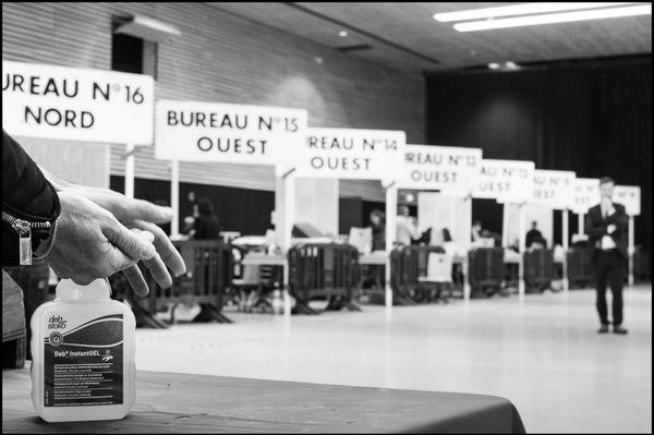 8 mars 2020, premier tour des élections municipales, salle des fêtes de Rodez