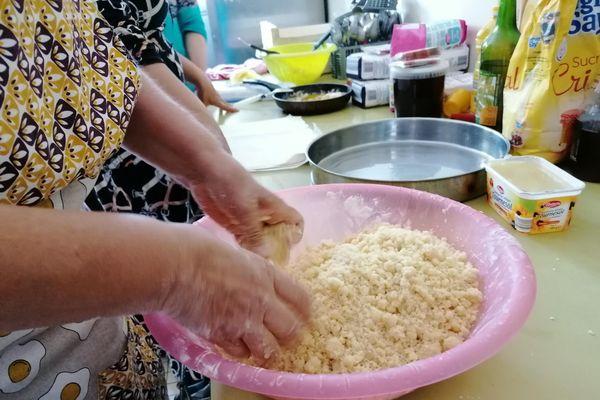 Les ingrédients du Baklavas préparés par Nora et Véronique lors de l'atelier cuisine.