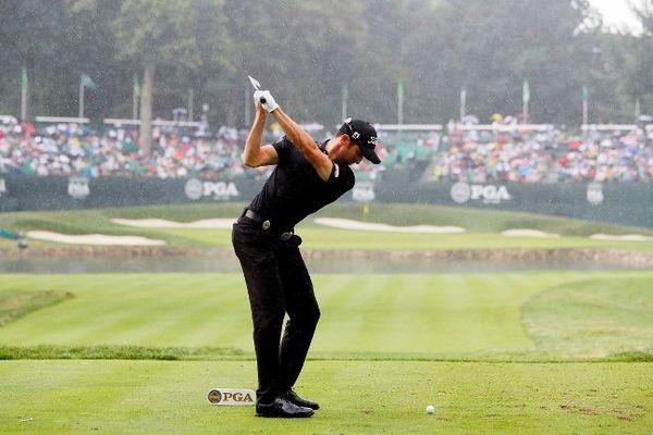 Gregory Bourdy le 31 août au PGA Championship à Baltusrol.