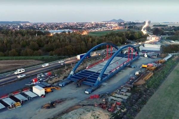 Le futur pont d'Aix-Noulette