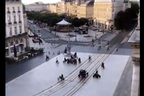 Capture d'écran d'une vidéo prise par un témoin