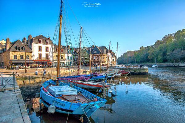 Qu'il était bon le temps de flâner en terrasse au Port de Saint-Goustan - Auray (Morbihan)