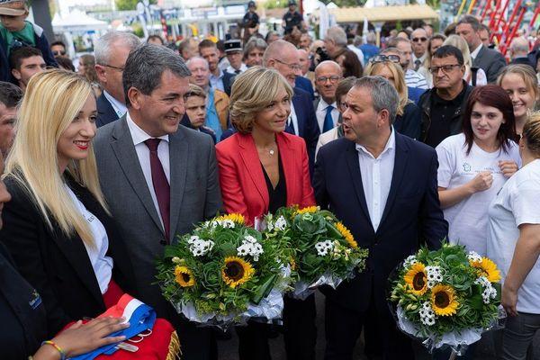 Les trois présidents de région, Jean Rottner, Valérie Pécresse et Xavier Bertrand étaient réunis pour l'inauguration de la Foire de Châlons.