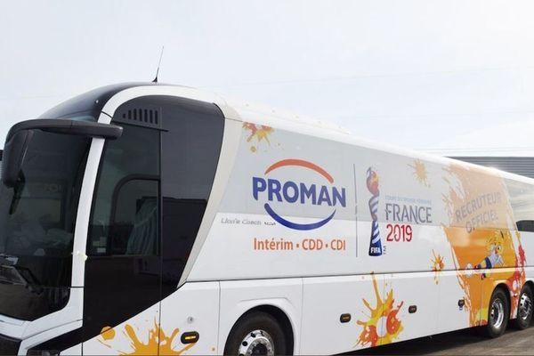Le bus pour l'emploi Proman sera installé mardi 2 avril 2019 place de l'Hotel de Ville au Havre.