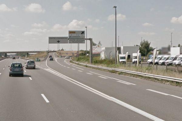 La sortie 20B de l'autoroute A1, vers Paris, où a eu lieu l'accident.