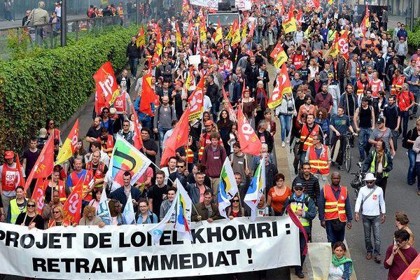 Image d'illustration -Manifestation  contre la loi travail du 14 juin à Lyon