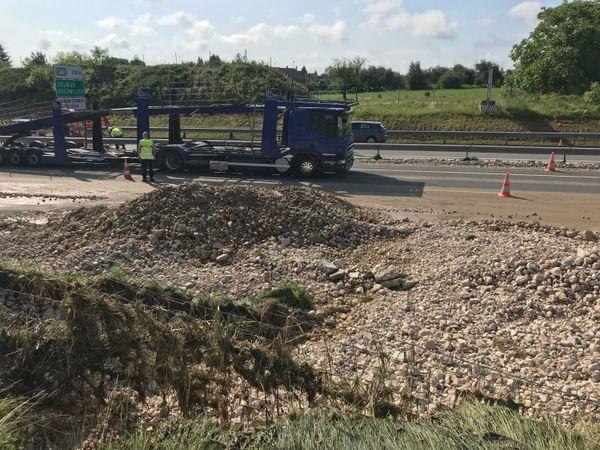Gravats sur l'autoroute A36, mardi 5 juin 2018