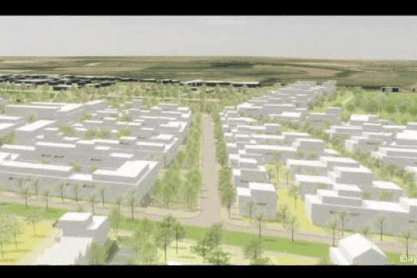 """Un aperçu du futur quartier """"Les Hauts de l'Orne"""" à Fleury-sur-Orne"""