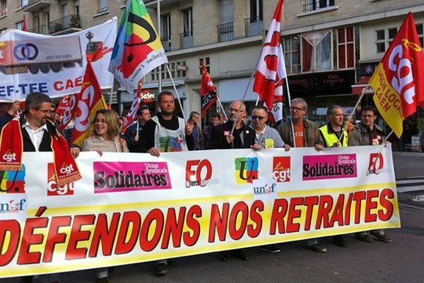 Manifestation contre la réforme des retraites à Caen, 10 septembre 2013