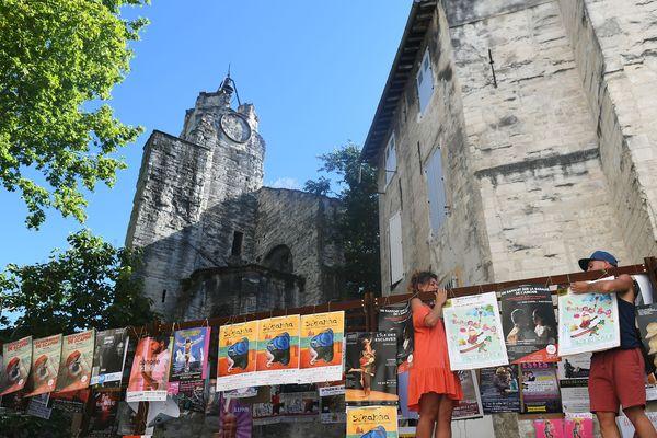 Lors du festival d'Avignon 2019