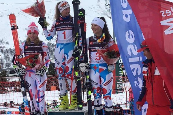 Camille Cerutti, vice-championne de Géant des moins de 18 ans le 27 février aux Ménuires.