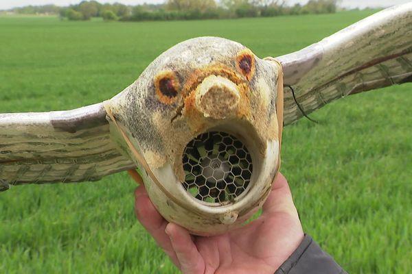 Le drone faucon reproduit le vol du prédateur et chasse les corbeaux des champs où ils viennent picorer les graines de maïs.