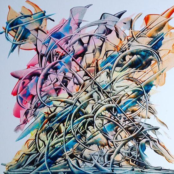 Une des toiles de Pierre-Paul Marchini exposée au port Charles Ornano.