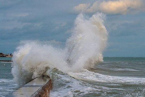 Grande marée à Lesconil