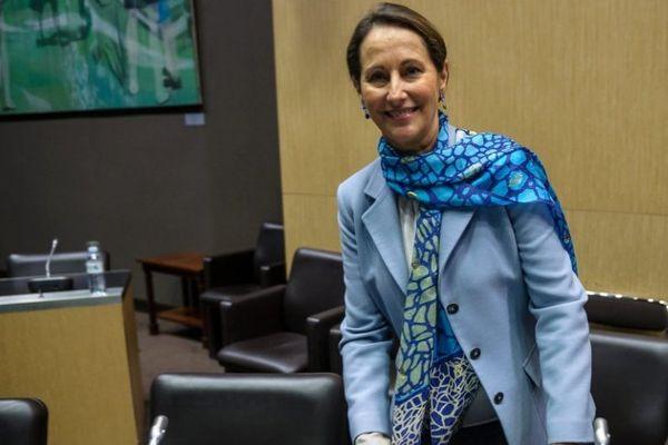 Ségolène Royal, ministre de l'Ecologie, auditionnée par la Mission d'information de l'Assemblée nationale sur l'écotaxe poids lourds le 30 avril 2014.