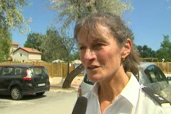 Dagmar Maronde, policière allemande, a été détachée à Marseillan pour l'été, dans le cadre des accords de coopérations européens