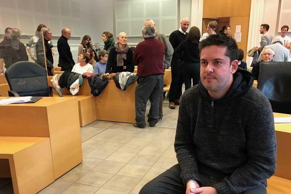 Matthias Lacoste au tribunal de Poitiers, ce jeudi 24 janvier