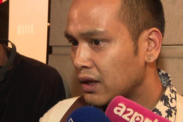 Un témoin de l'attaque au couteau, à Paris, le 12 mai 2018.