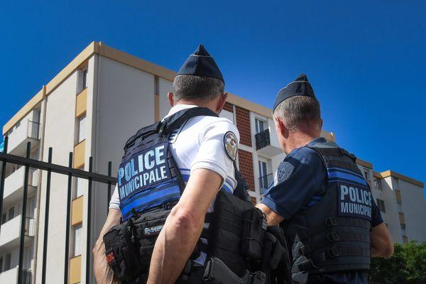 Photo d'illustration de policiers à Perpignan.