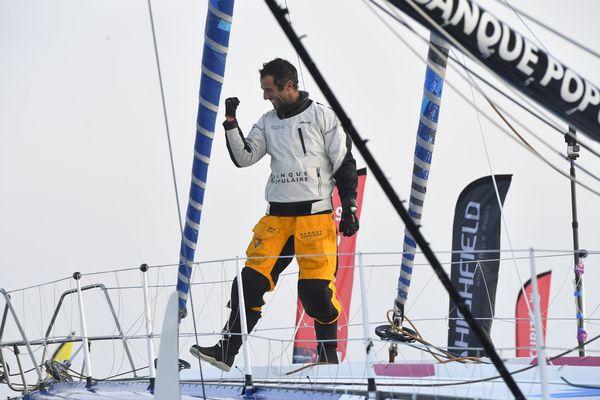 Armel Le Cléac'h, vainqueur du Vendée Globe.