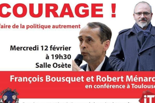 La conférence du maire d'extrême-droite, Robert Ménard, devait se tenir ce soir à Toulouse dans une salle municipale.