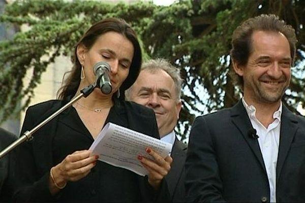 Aurélie Filipetti et Stéphane de Groodt au festival du Mot de La Charité-sur-Loire