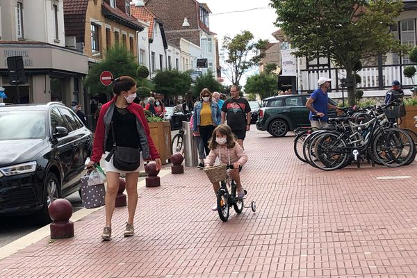 Rue de Metz au Touquet, ce dimanche 26 juillet.