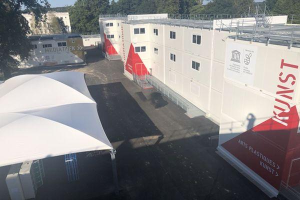 Le lycée franco-allemand de Buc, actuellement en cours de rénovation