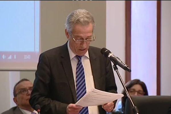 Patrick Labaune lors de son élection à la tête de l'exécutif départemental en 2015 (Archives)