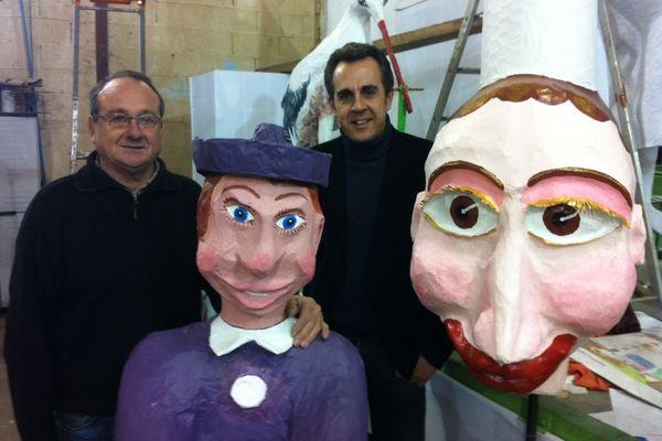 Yannick Constantin, président du carnaval et Flavien Texier
