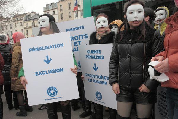 Paris le 16 Mars 2013 :  manifestation à Paris des travailleuses du sexe pour l'abrogation du délit de racolage public a l'appel du STRASS (Syndicat du Travail Sexuel)
