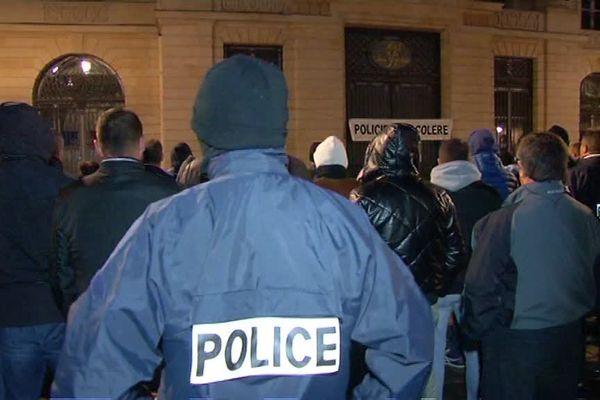 Les policiers s'étaient déjà rassemblés jeudi soir à Reims.
