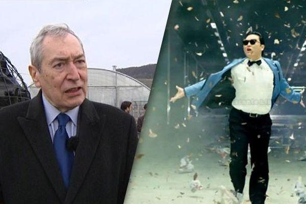 À gauche, le maire de droite. À droite, le coréen chantant.