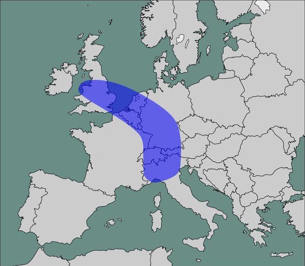 """Dorsale européenne ou """"Banane bleue"""""""