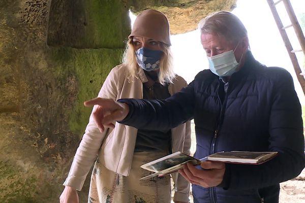 Jean-Max Touron et Marie Calonne au Fort du Roc de Tayac