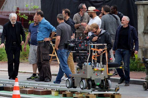 Michael Haneke (à gauche) en tournage à Douai début juillet.