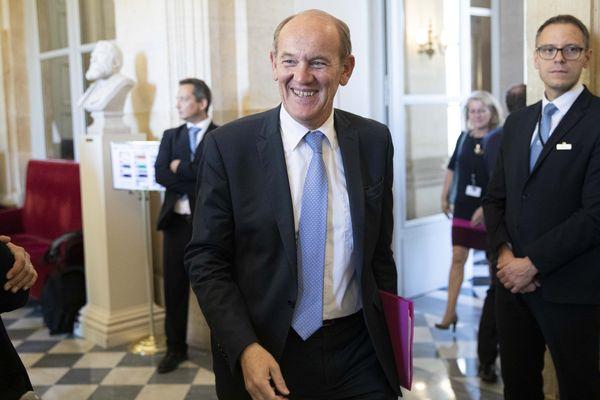 Daniel Fasquelle dans les couloirs de l'Assemblée nationale en septembre 2019.