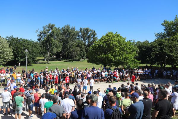 Il y avait du monde sur la partie du 4e tour de Quintais dans les allées du Parc Borély où le champion s'est fait peur.