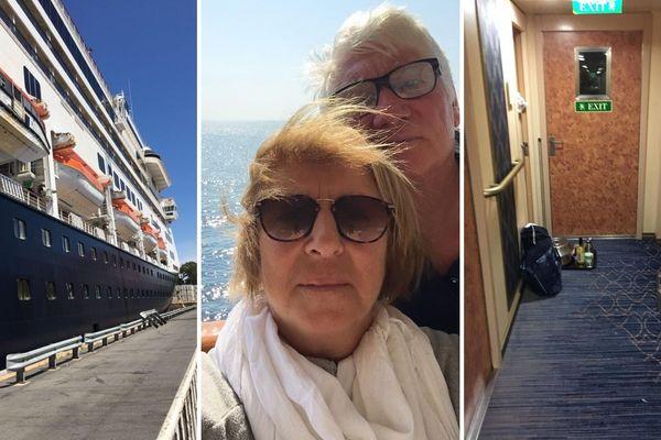 Nicole et Jean-Marie confinés dans leur cabine depuis 10 jours à bord du paquebot de croisière hollandais, le Zaandam.