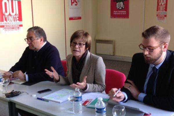 Martine Filleul, première secrétaire du PS dans le Nord, présente le référendum pour l'unité de la gauche aux régionales